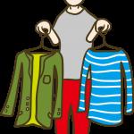 服の合わせ方