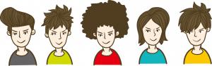 いろんな髪型